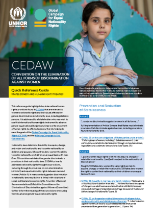 CEDAW and Nationality Laws Guide